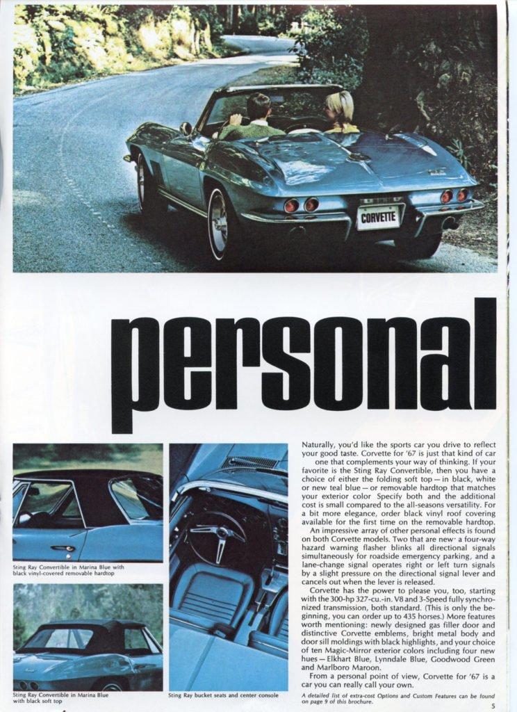 1967 Corvette Brochure - personal