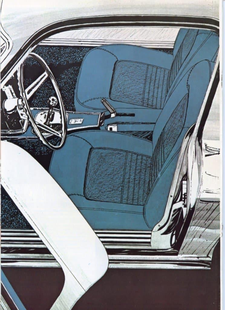 1967 Corvette Brochure - interior artist portrayal