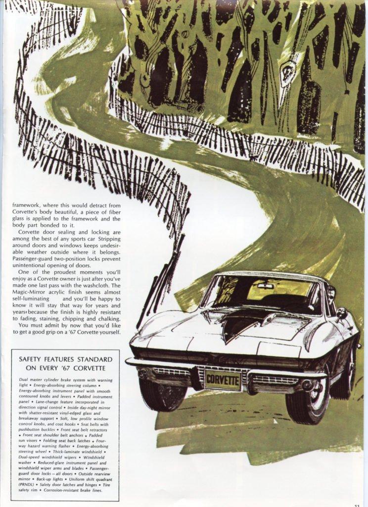 1967 Corvette Brochure - 1967 Corvette Safety Features