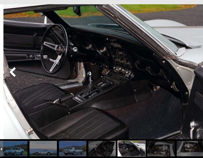 1969 Chevrolet Corvette Auctioned at No Reserve