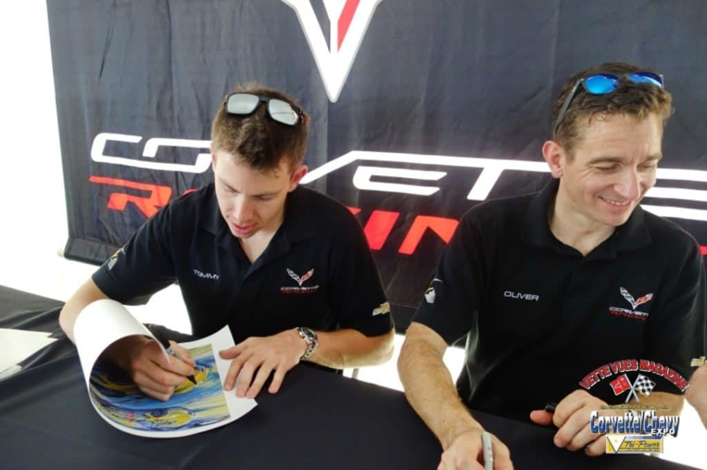Thursday morning autograph session with Tommy Milner and Oliver Gavin.
