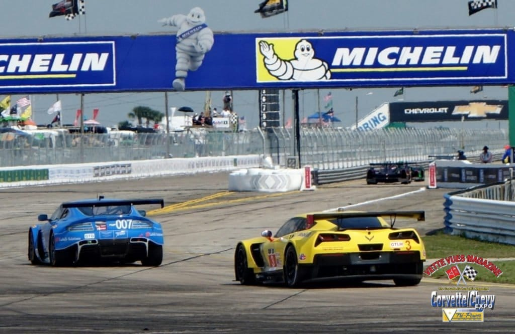 Corvette Racing Thursday afternoon practice at the 2015 Sebring race.