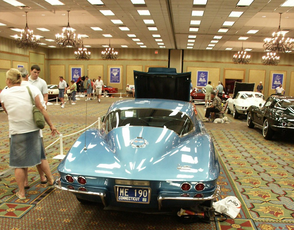 1967 Chevrolet Corvette Sport coupe 427/435 hp. Owned by Matthew and Margie Kochman of Port Jefferson NY on display at the Bloomington Gold Corvette Hall of Fame.
