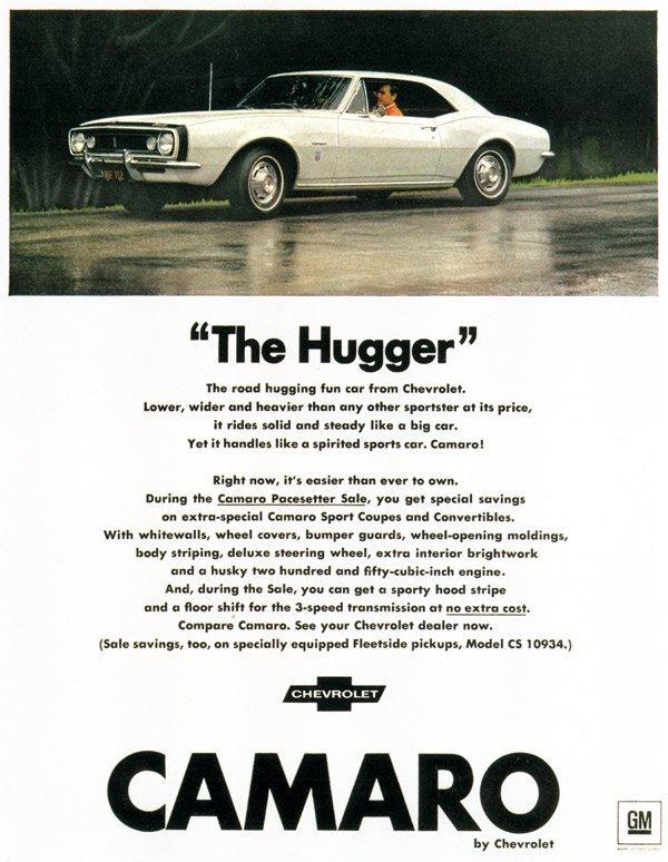 1967 Chevrolet Camaro Print Ad