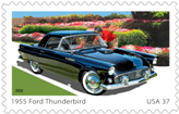 1955 Ford Thunderbird US Postage Stamp