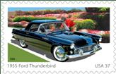 1955 Ford Thunderbird US Postage Stamp