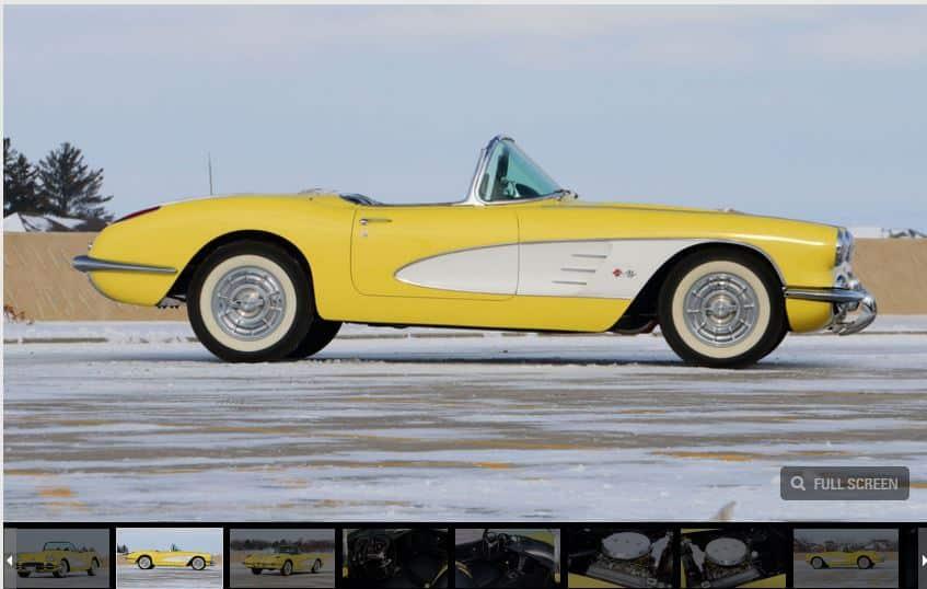 1958 Corvette Star Car Goes to Auction