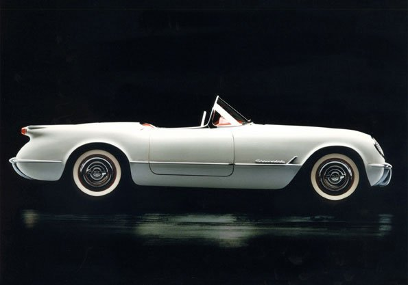 1953 Chevrolet Corvette was the first Corvette. As Corvette Design and Engineering developed over time, Corvettes maintained some of the original Corvette Design and Features. © General Motors