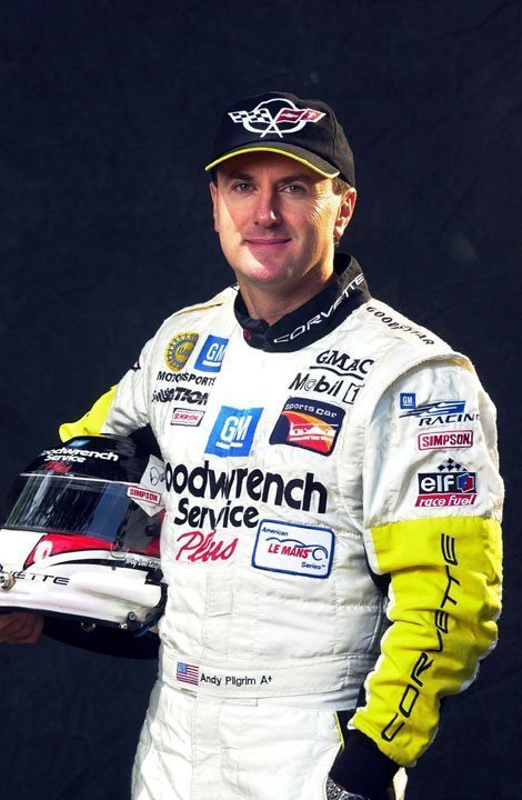 Racer Andy Pilgrim Lead's Corvette's 50th Anniversary in 2003
