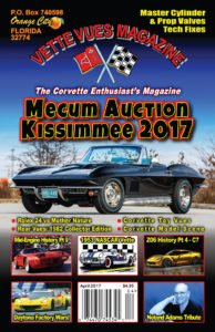 April 2017 Vette Vues Magazine cover