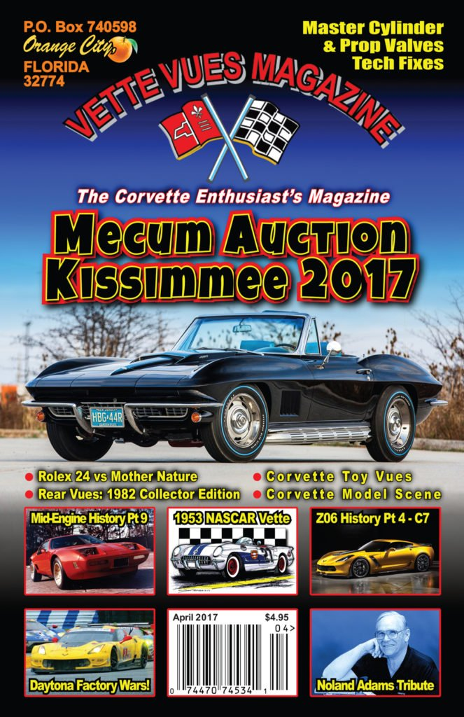 April 2017 Vette Vues Magazine Issue Preview cover.