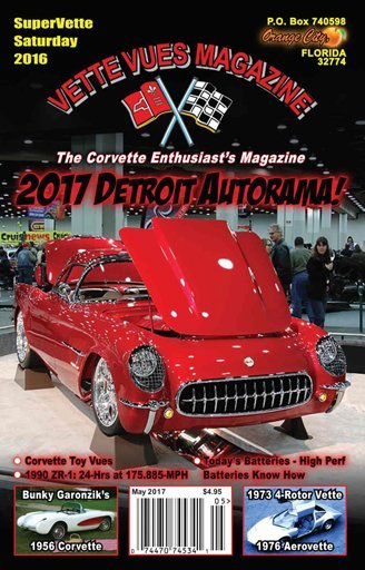 May 2017 Vette Vues Magazine Cover