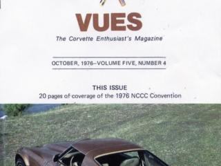 1976 Cover of Vette Vues Magazine