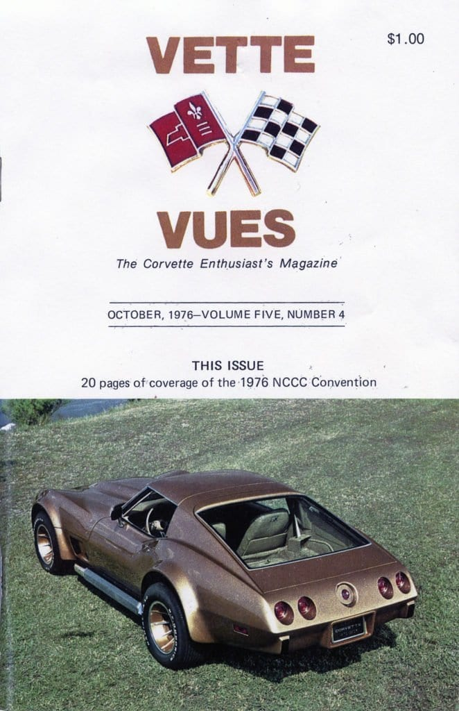 1976 Cover of Vette Vues Magazine