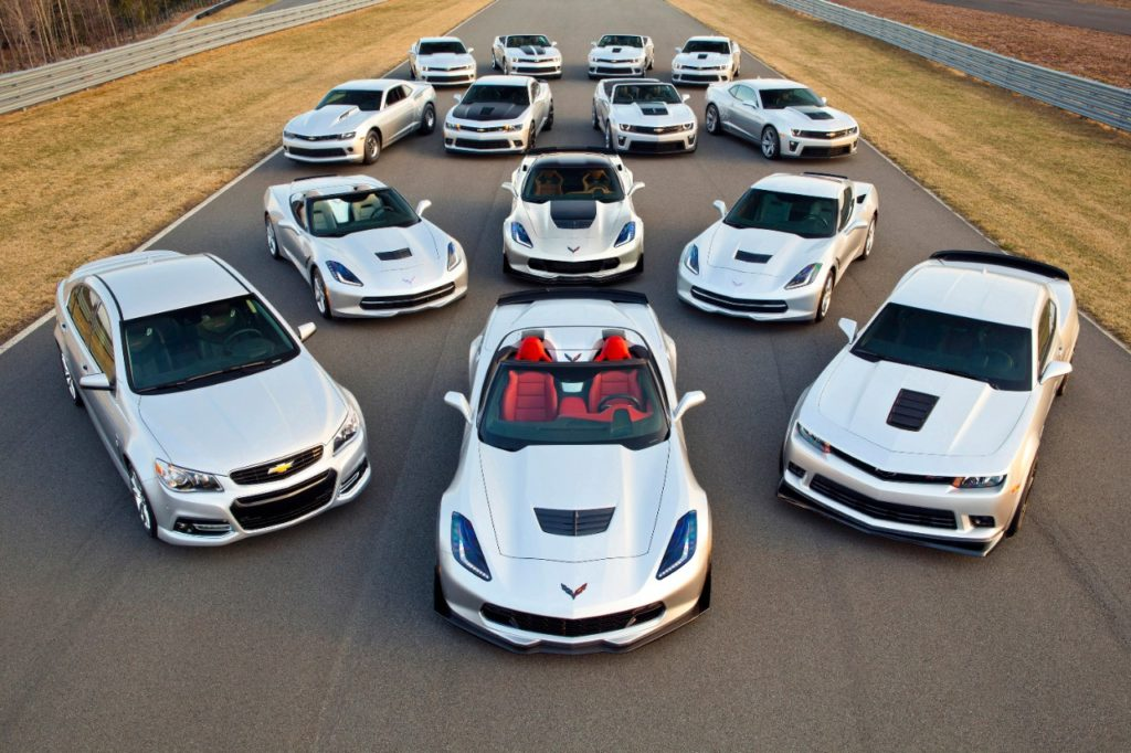 Chevrolet Performance Cars for 2015: With the addition of the 2015 Chevrolet Corvette Z06 Convertible, Chevrolet will offer 14 performance car models for enthusiasts, ranging from 323 to 625 horsepower.