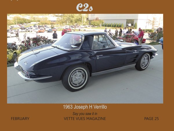 1963 Chevrolet Corvette owned by Joseph H Verrillo at the Bloomington Gold Corvettes Charlotte event in 2016.