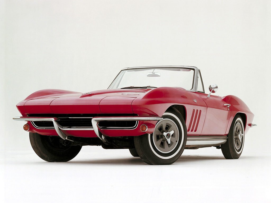 We have included with our 1965 Corvette Specifications a historical photo from General Motors Archives.