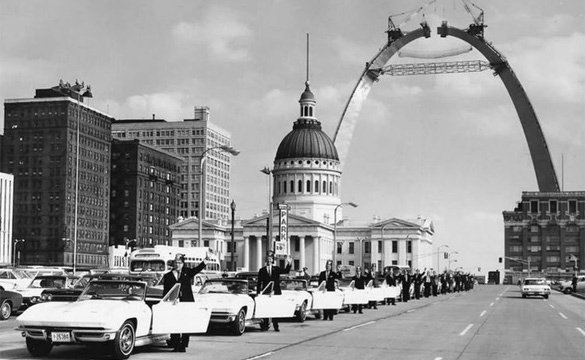 Tangier Shriners 1965 Corvettes in St. Louis.