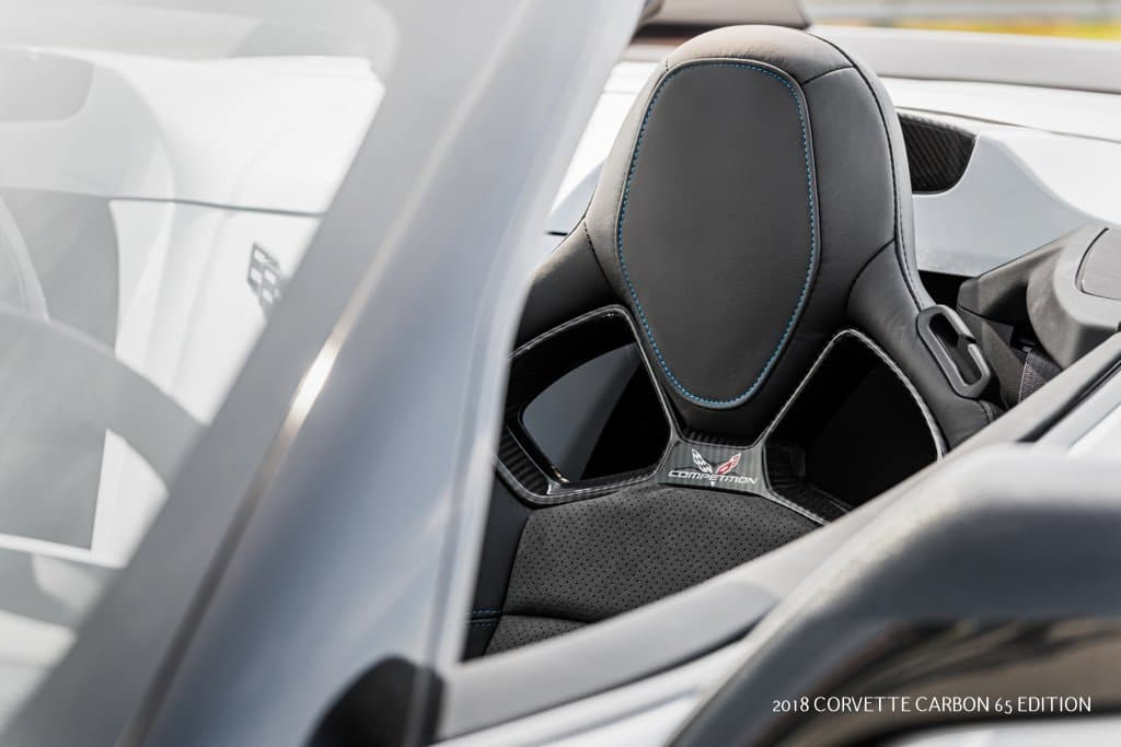 Competition sport seats come standard on the 2018 Carbon 65 Edition.