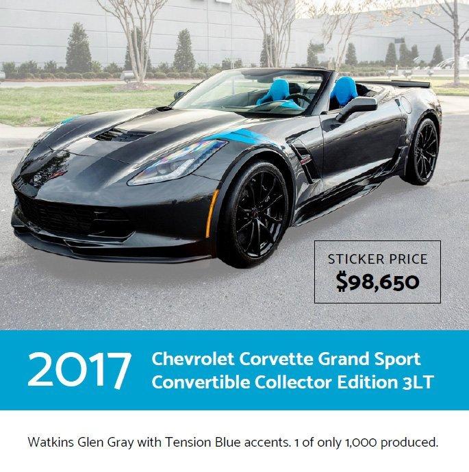 vette vues magazine 2017 chevrolet corvette grand sport convertible 3lt collector edition2017. Black Bedroom Furniture Sets. Home Design Ideas