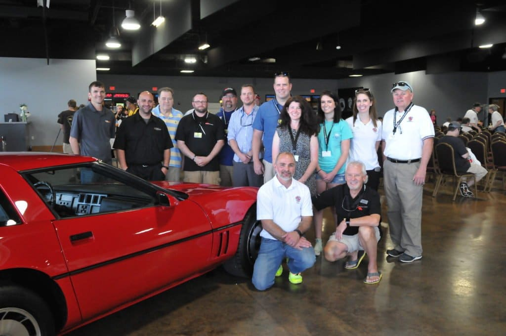 The Rhoads family is joined by those who helped bring Burke Rhoads 1984 Corvette back to life.