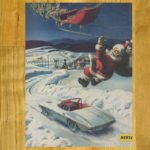 Here is a Vintage Hertz Ad with a Classic Chevrolet Corvette at Christmas time.