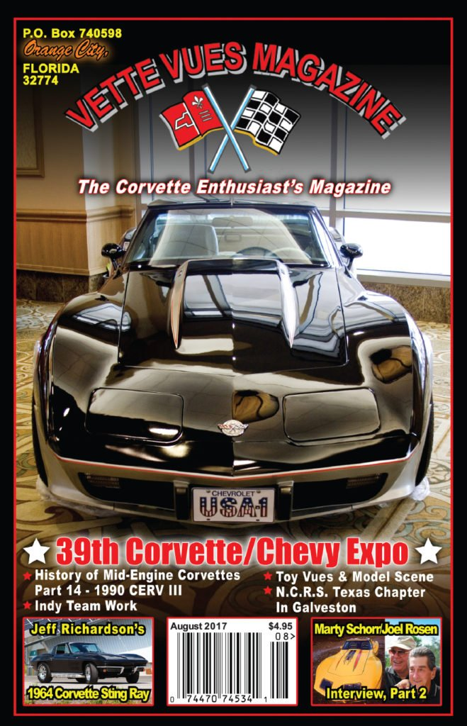 August 2017 Cover of Vette Vues Magazine