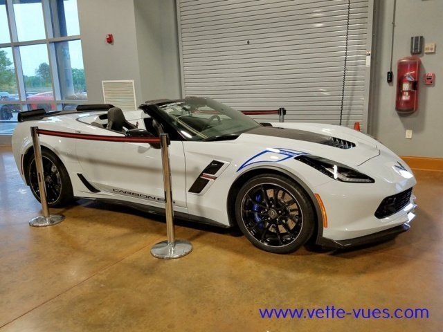 2018 Corvette Carbon 65 Edition Convertible Side View with the top down.