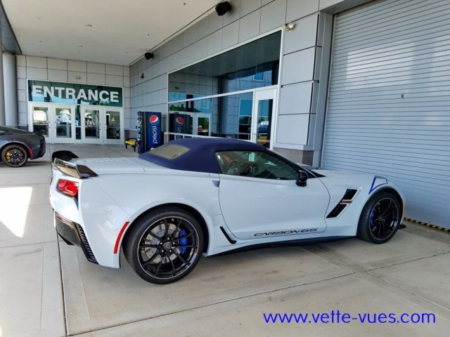 2018 Corvette Carbon 65 Edition Side of the convertible with the top up.