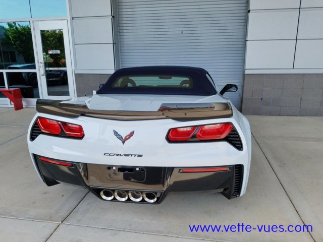 2018 Corvette Carbon 65 Edition Rear Photo of the convertible with the top up.