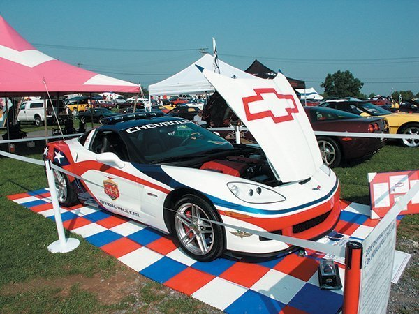Edward Fastook 2006 Chevrolet Corvette Z06 Pace Car on display at the 2007 Corvettes at Carlisle Fun Field.