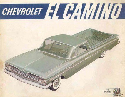 Chevrolet El Camino History and 1959 Ads