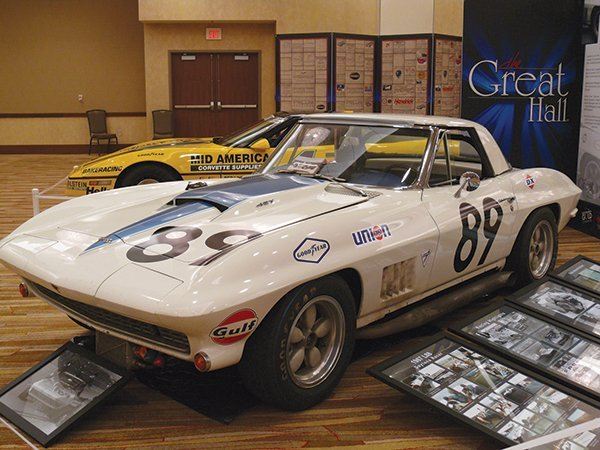 1967 L88 Corvette Daytona Racer was inducted into the Bloomington Gold 2013 Great Hall. Entered into over 350 competitive events, it finished first over 150 times— winning 52 consecutive races. It finished in the top three over 75% of the time, including 2nd place at the 1970 Daytona 24 Hour. Unsponsored. Speeds reached 186 mph at Daytona and 203 mph at Talladega. This is the only known pre-C3 production Corvette to reach 200 mph.