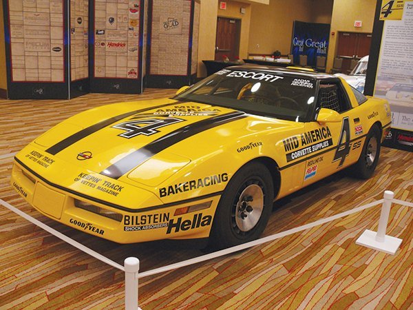 This 1987 Corvette was inducted into the Bloomington Gold 2013 Great Hall. In 1987, Corvettes won more than half of the SCCA Pro Endurance Series races. From '84 to '87 Corvettes were dominating the Showroom Stock, they had superior power, superior handling, and superior brakes. Bakeracing #4 retired in 1987 as undefeated champion and the inspiration for the Corvette Challenge era to follow. Owners: Bob & Bridgette Tomczak.