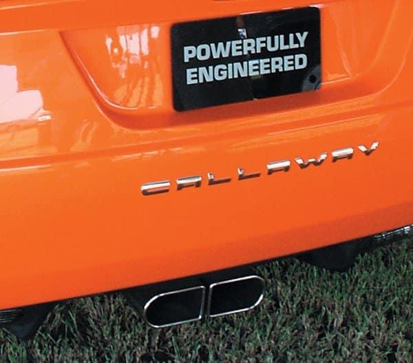 2007 Callaway C16 Cabrio Rear Closeup