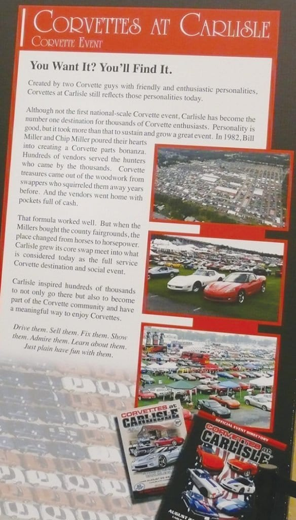 Corvettes at Carlisle was inducted into the Bloomington Gold 2013 Great Hall.