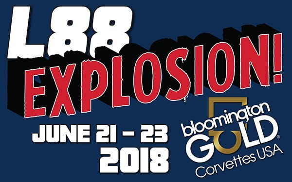 IN, Indianapolis June 21-23: Bloomington Gold Corvette featuring the L88 Explosion held at the Indianapolis Motor Speedway.