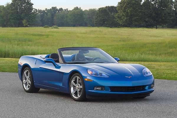 2009 Chevrolet Corvette Convertible in Jetstream Blue Metallic.