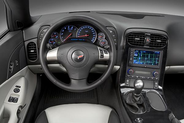 2009 Chevrolet Corvette Convertible in Jetstream Blue Metallic with Titanium Interior.