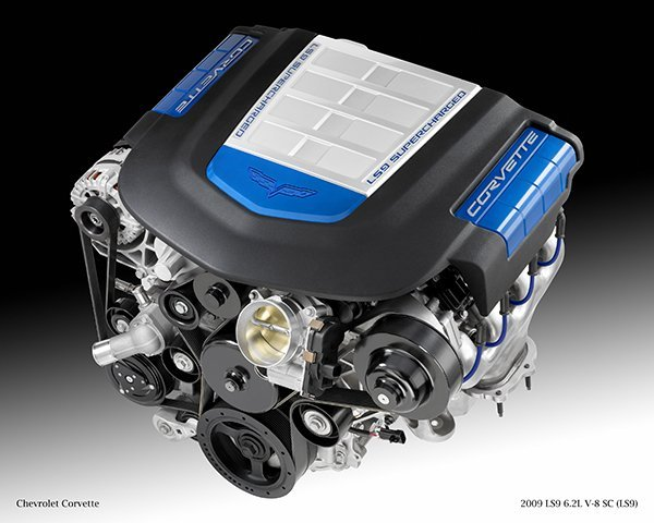 2009 LS9 6.2L V-8 SC (LS9) for Chevrolet Corvette.