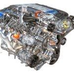 2009 LS9 6.2L V-8 SC (LS9) for Chevrolet Corvette ZR1 - David Kimble Illustration.