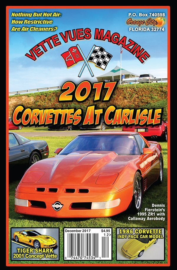 Cover of Issue #555, December 2017 Issue, Vette Vues Magazine, Volume 46, Issue Number 5