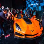 Media get a closer look at the 2019 Corvette ZR1 Convertible during it's world debut Tuesday, November 28, 2017 in Los Angeles, California. The Corvette ZR1's unique aero package is central to the coupe's 212-mph top speed generated by the 755 horsepower LT5 6.2L supercharged engine. On sale in the spring of 2018, the ZR1 convertible will start at $123,995. (Photo by Dan MacMedan for Chevrolet)