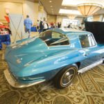Earl & Susan Hesterberg's 1966 Corvette on display from the NCRS Texas Chapter at the Corvette Chevy Expo in Galveston, Texas.