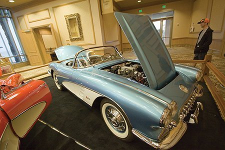 John Kittleson's 1960 Fuel Injection Corvette on display from the NCRS Texas Chapter at the Corvette Chevy Expo in Galveston, Texas.