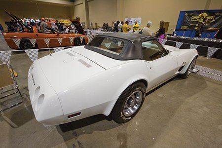 Paul Diamanti's 1974 Corvette on display from the NCRS Texas Chapter at the Corvette Chevy Expo in Galveston, Texas.