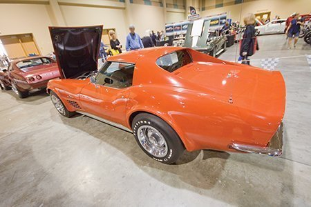Richard Hudson's 1972 Corvette on display from the NCRS Texas Chapter at the Corvette Chevy Expo in Galveston, Texas.