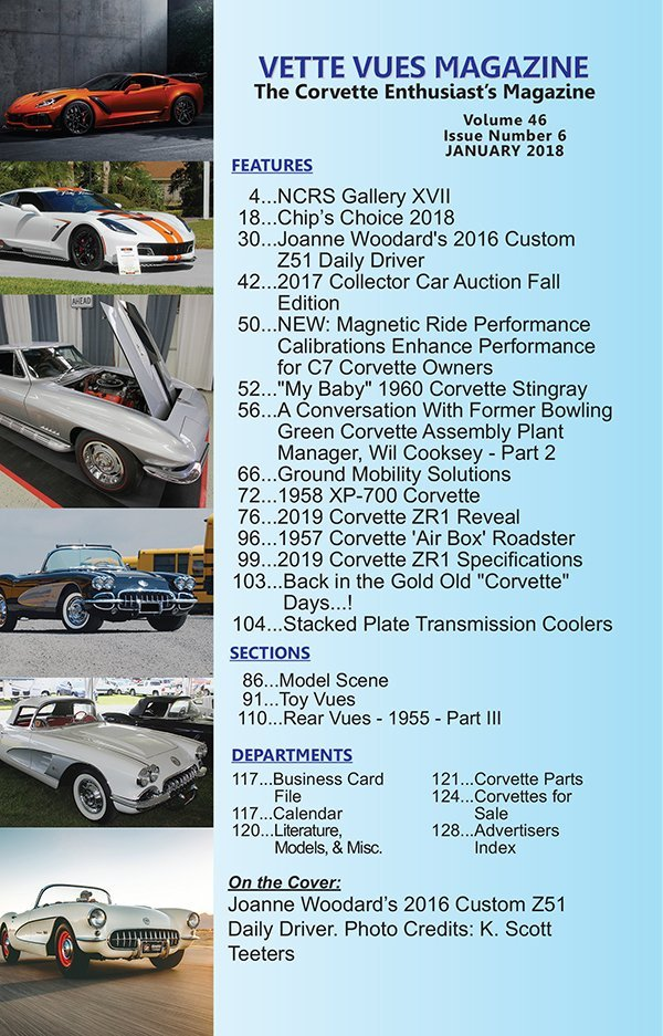January 2018 Vette Vues Magazine Articles