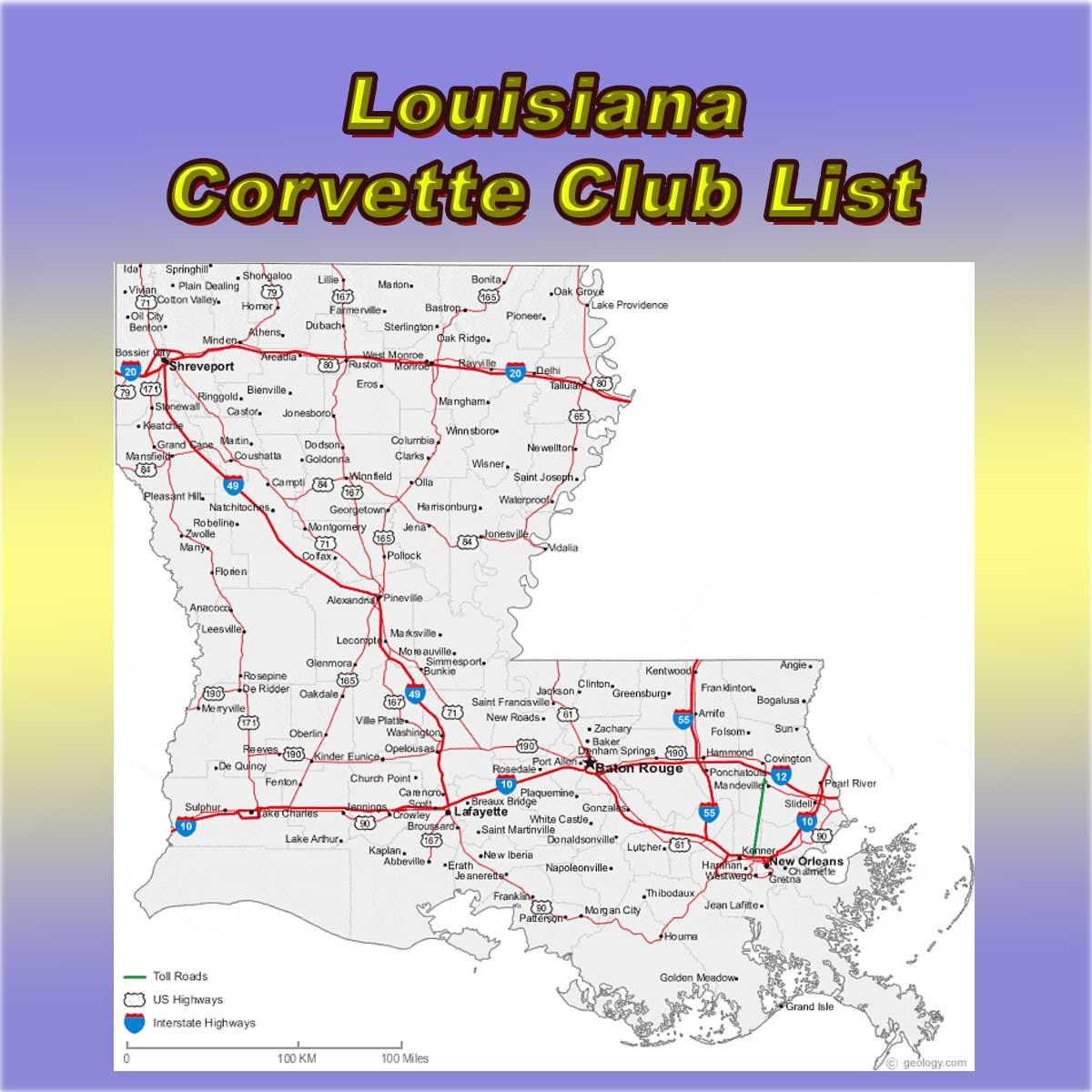 Louisiana Corvette Club Directory