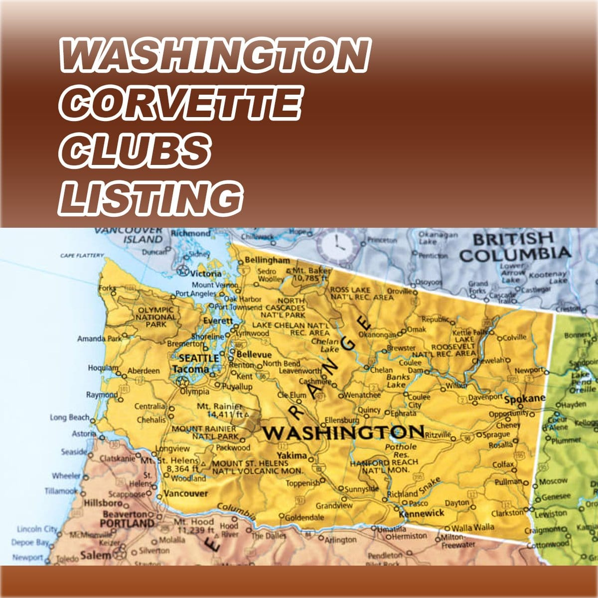 Washington Corvette Club Directory